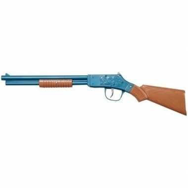 Speelgoed/verkleed cowboy geweer blauw . carnavalskleding valkenswaar