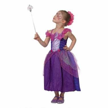 Sprookjes prinses carnavalskleding paars meisjes Valkenswaard