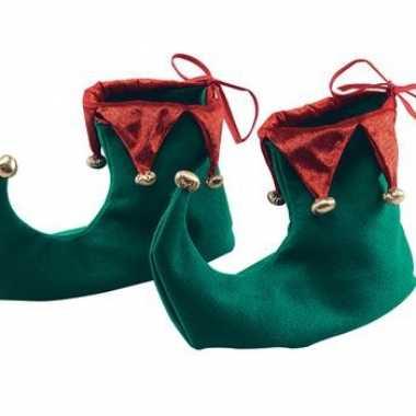 Stoffen kerst schoenen