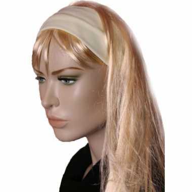 Stretch haarbanden pastel geel