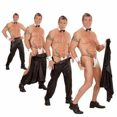 Stripper broek zwart heren carnavalskleding valkenswaard