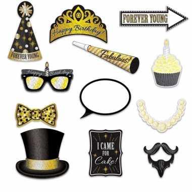 Stuks foto props verjaardags thema carnavalskleding valkenswaard
