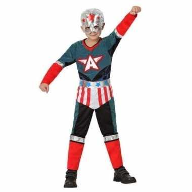 Superheld kapitein amerika carnavalskleding/verkleed carnavalskleding