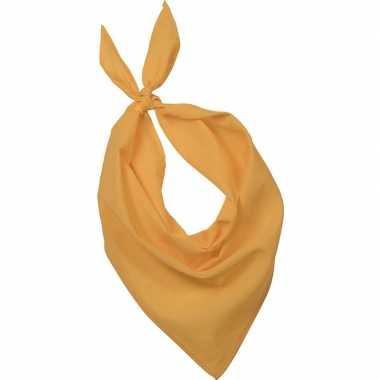 Team geel zakdoeken/bandanas volwassenen carnavalskleding valkenswaar