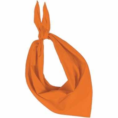 Team oranje zakdoeken/bandanas volwassenen carnavalskleding valkenswa