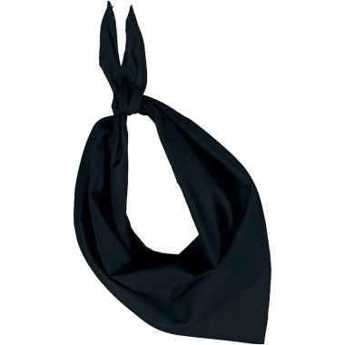 Team zwart zakdoeken/bandanas volwassenen carnavalskleding valkenswaa