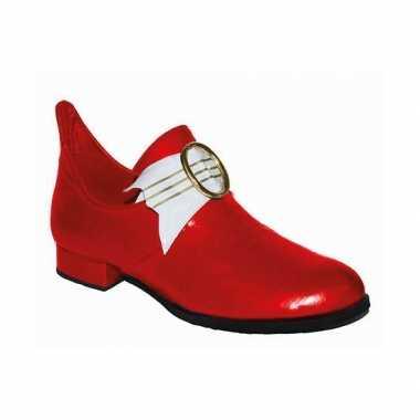 Thema middeleeuwen rode lage heren schoenen carnavalskleding Valkensw