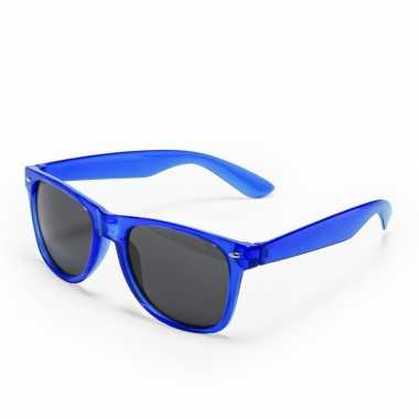 Toppers blauwe verkleed accessoire zonnebril volwassenen carnavalskle