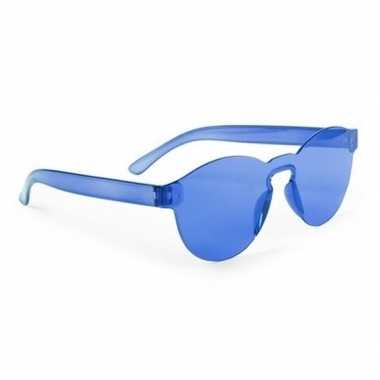 Toppers blauwe verkleed zonnebril volwassenen carnavalskleding valken