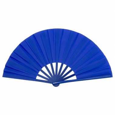 Toppers handwaaier spaans blauw carnavalskleding valkenswaard