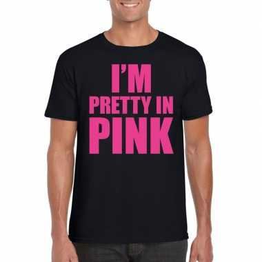 Toppers i am pretty pink shirt zwart heren carnavalskleding valkenswa