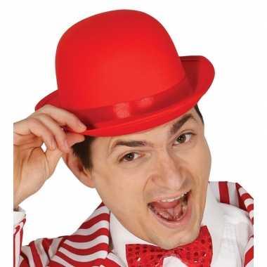 Toppers rode bolhoed/verkleed hoed volwassenen carnavalskleding valke