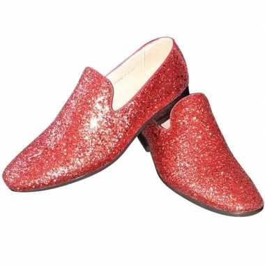 Toppers rode glitter pailletten disco loafers/instap schoenen heren c