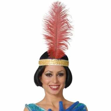 Toppers rode pauwenveer charleston/jaren verkleed accessoire carnaval