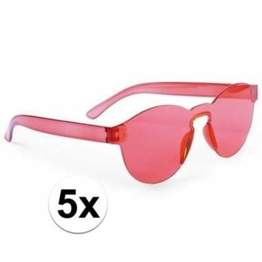Toppers rode verkleed zonnebrillen volwassenen carnavalskleding valke