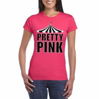 Toppers t shirt roze pretty pink dames carnavalskleding valkenswaard