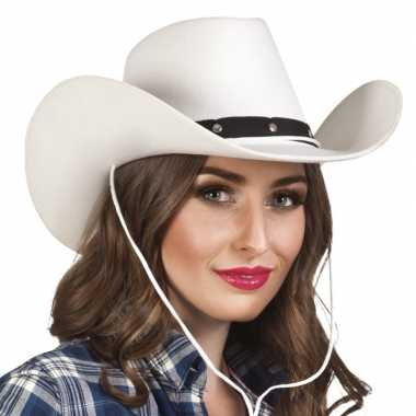Toppers witte cowboyhoed wichita dames carnavalskleding valkenswaard