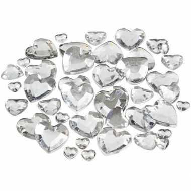 Transparante hartjes diamanten stuks carnavalskleding valkenswaard