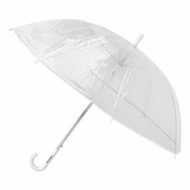 Transparante paraplu kunststof handvat carnavalskleding valkenswaard