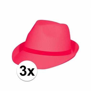 Tribly hoedjes neon roze stuks carnavalskleding valkenswaard