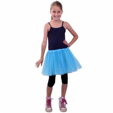 Tule rokje meisjes blauw carnavalskleding valkenswaard