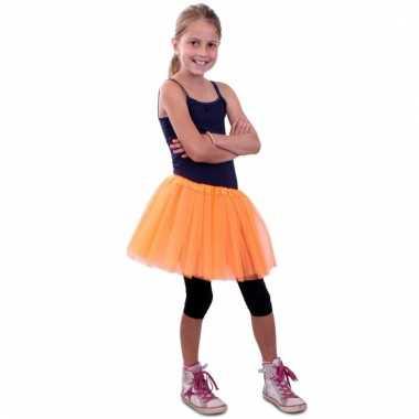 Tule rokje meisjes oranje carnavalskleding valkenswaard