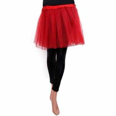 Tule rokje meisjes rood carnavalskleding valkenswaard