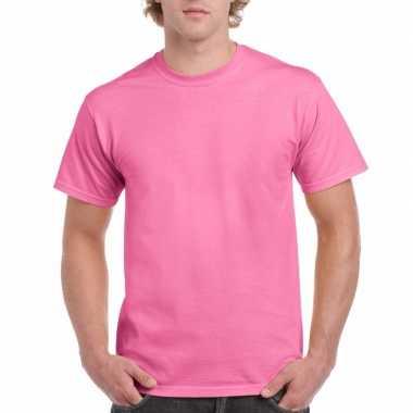 Unisex katoenen shirt roze volwassenen carnavalskleding valkenswaard