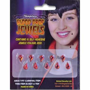 Vampier juwelen bloeddruppels stuks carnavalskleding Valkenswaard