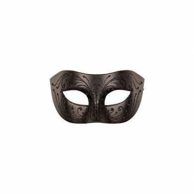 Venetiaans oogmasker zwart volwassenen carnavalskleding valkenswaard