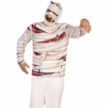 Verkleed mummie shirt heren