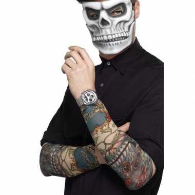 Verkleed tattoo sleeves skulls volwassenen carnavalskleding valkenswa