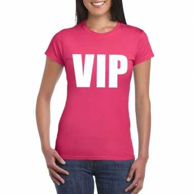 Vip tekst t shirt roze dames carnavalskleding valkenswaard
