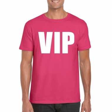 Vip tekst t shirt roze heren carnavalskleding valkenswaard