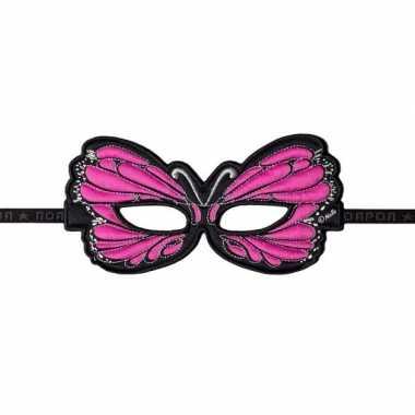 Vlinder oogmasker roze carnavalskleding Valkenswaard