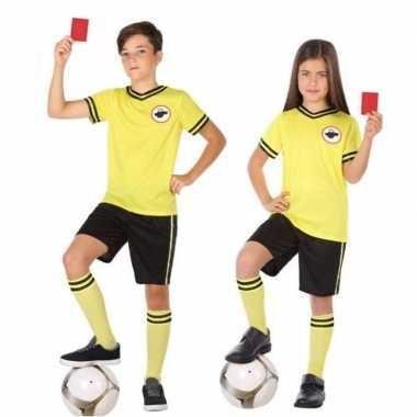 Voetbal scheidsrechter verkleed carnavalskleding kinderen valkenswaar