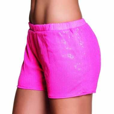 Vrijgezellendag carnavalskleding hotpants roze
