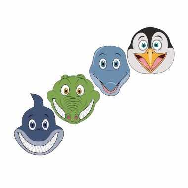 Waterdieren maskertjes kinderen carnavalskleding valkenswaard