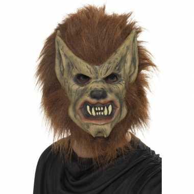 Weerwolf masker latex carnavalskleding valkenswaard