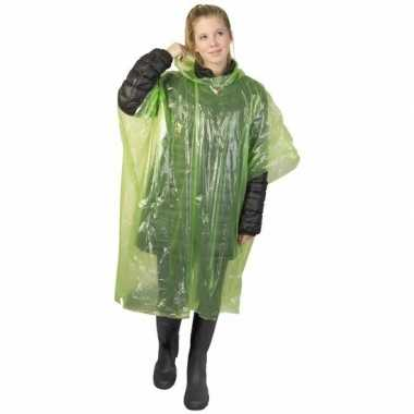 Wegwerp regen poncho lime carnavalskleding valkenswaard