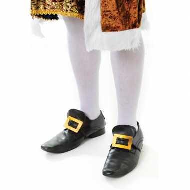 Witte kniekousen volwassenen carnavalskleding valkenswaard