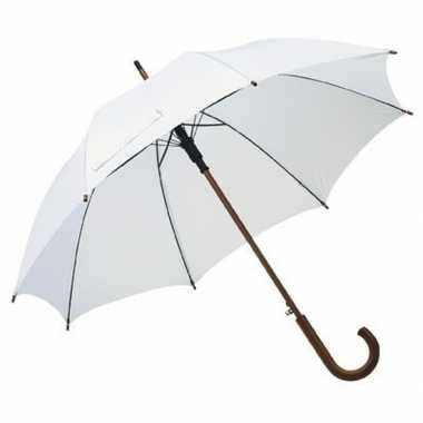 Witte paraplu houten handvat carnavalskleding valkenswaard