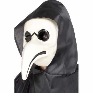 Witte plaag dokter masker volwassenen carnavalskleding valkenswaard