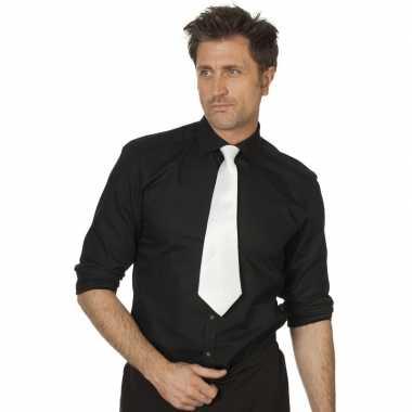 Witte stropdas verkleedaccessoire dames/heren carnavalskleding valken
