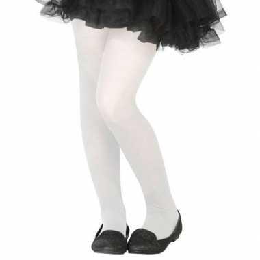 Witte verkleed panty kinderen carnavalskleding valkenswaard