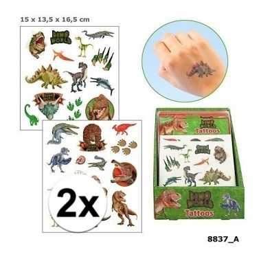 X afwasbare tattoos dino world kinderen carnavalskleding valkenswaard
