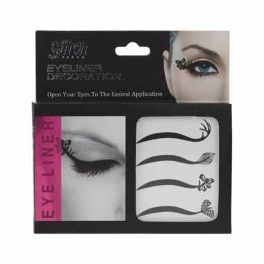 X eyeliner decoratie stickers carnavalskleding valkenswaard
