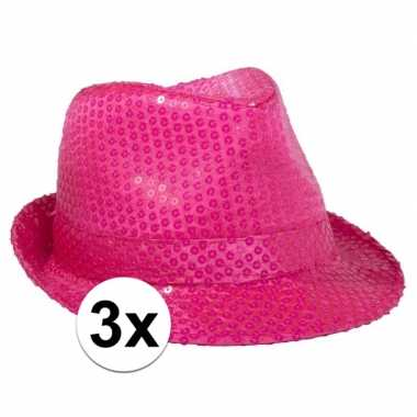 X feesthoed toppers neon roze pailletten carnavalskleding valkenswaar
