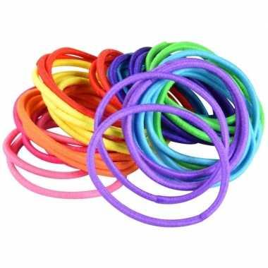 X gekleurde haarelastieken carnavalskleding valkenswaard