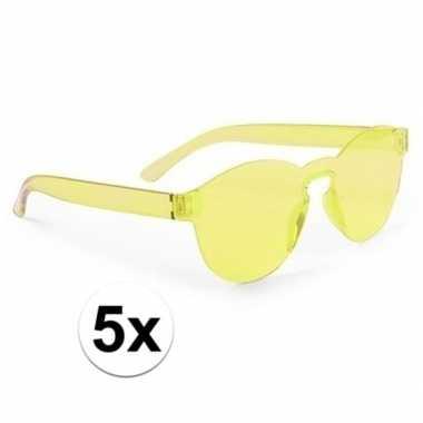 X gele verkleed zonnebrillen volwassenen carnavalskleding valkenswaar